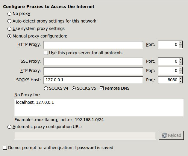 Easy VPN or Proxy for Firefox with SSH